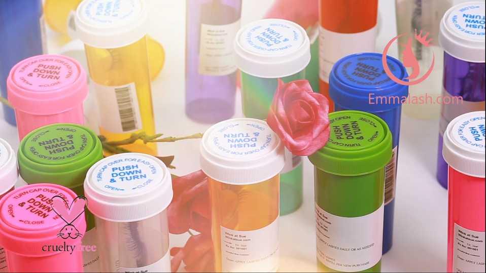 eyelash pill bottle