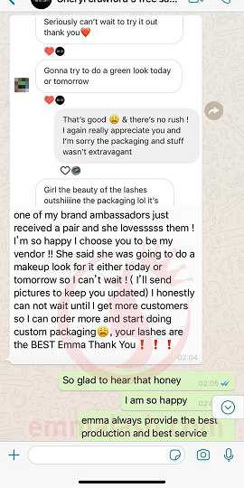 Emma Lashes customer review and feedback(23)