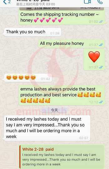 Emma Lashes customer review and feedback(30)