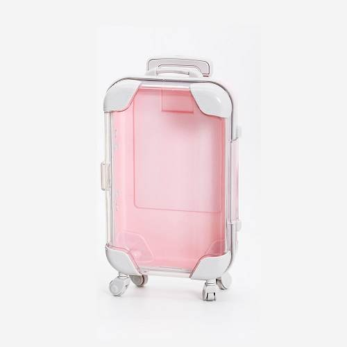 pink eyelash suitcase