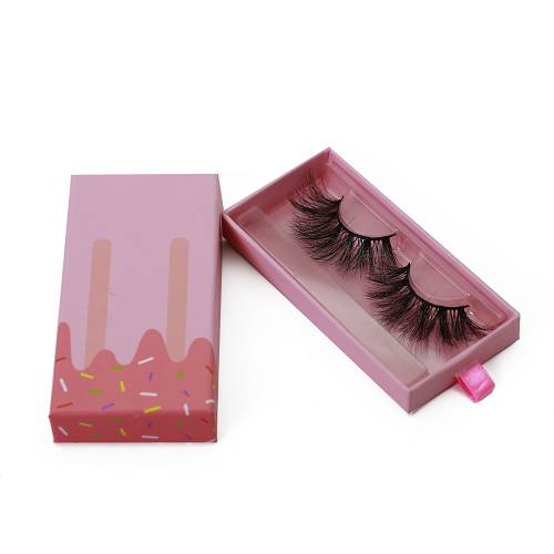pink ice cream eyelash packaging wholesale