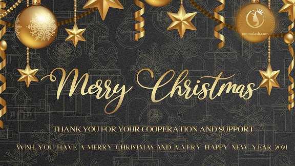 Merry Christmas greetings form Emma Lashes
